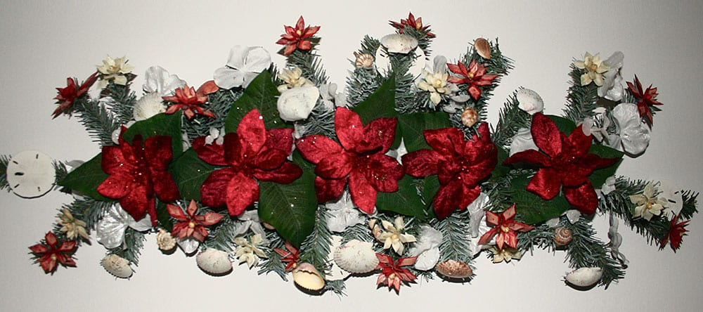Poinsettia Decor Centerpiece